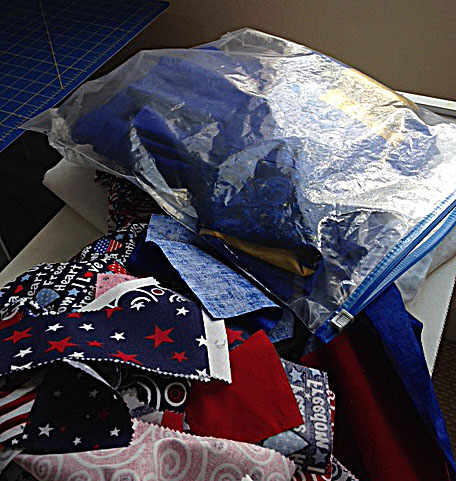 Stash and top in bag